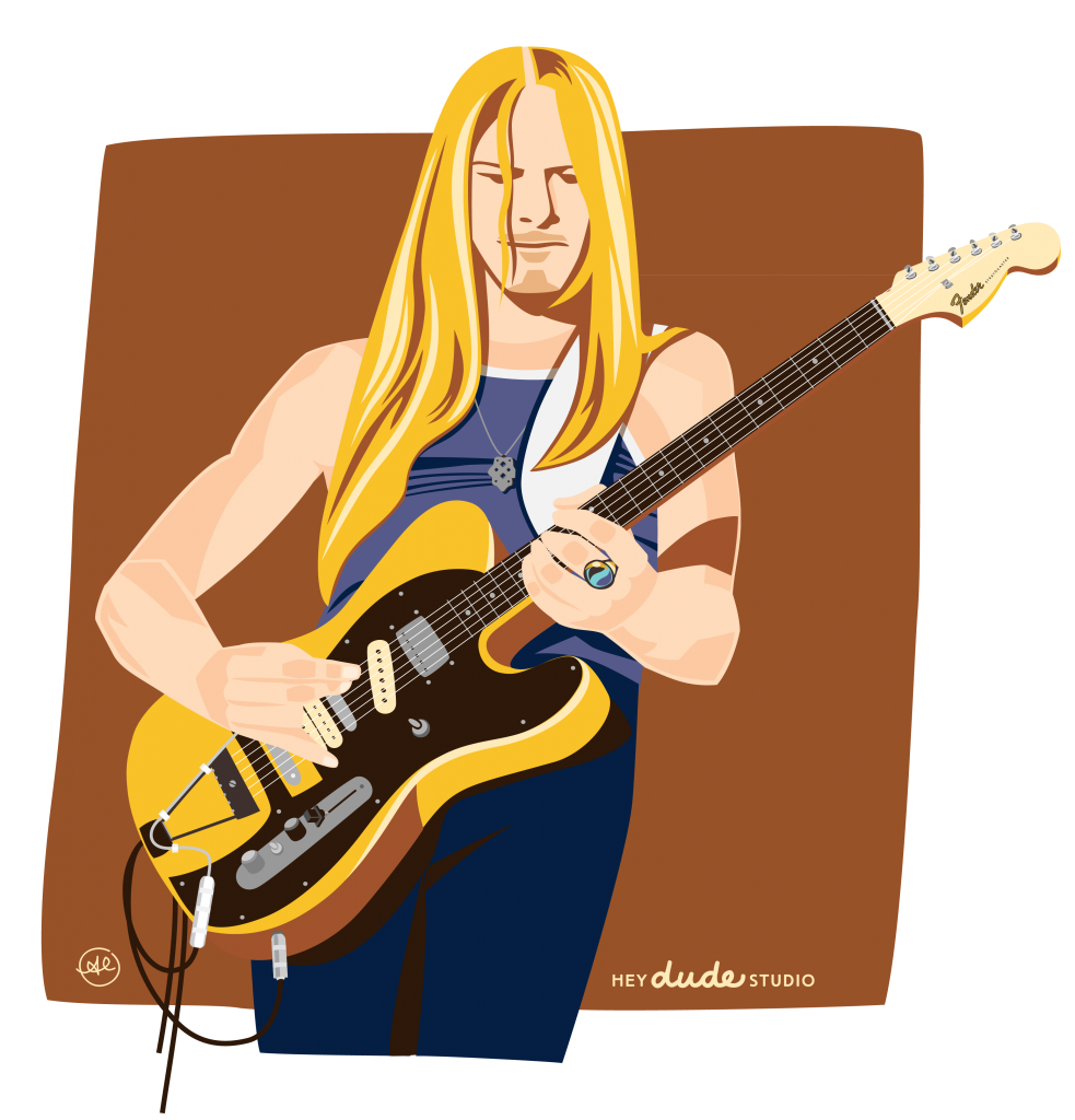 Illustration of Steve Morse